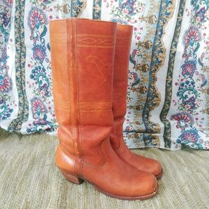 Shoes - Vintage leather boots Brazil brown size 7.5